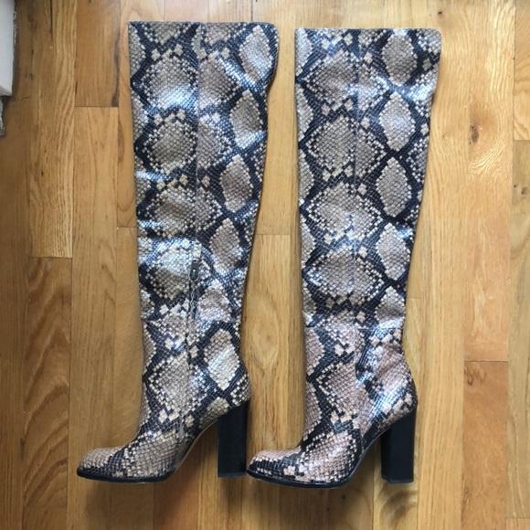 various design new images of hot sale Sam Edelman Shoes | Rylan Over The Knee Snake Boots | Poshmark
